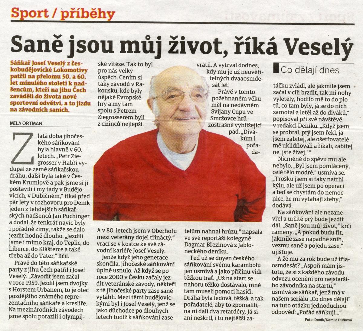 Josef Vesel z Vodan - Informan centrum Vodany